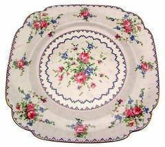 Royal Albert Petit Point 7.75 Inch Square Plate 2nds Quality - $24.49
