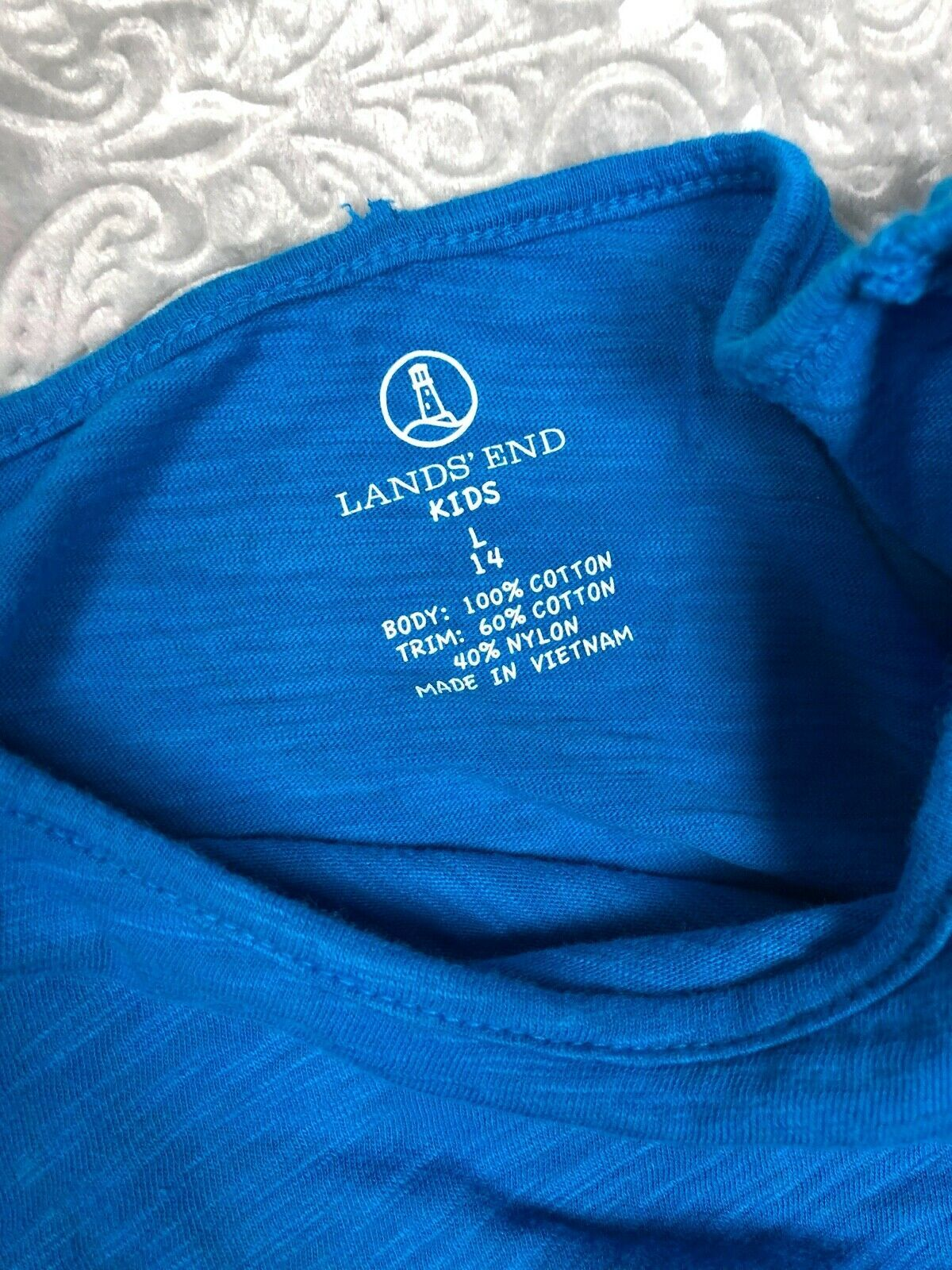 LANDS END KIDS Summer Tops Lot Sleeveless Tank Dress T-Shirt Girl's Size 14  image 11