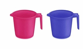 Indian Plastic Bath Accessory Bathroom Mug Set of 2 Color May Vary - £12.27 GBP