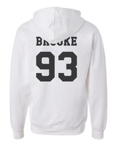 Brooke 93 on Back Ally Brooke 7th harmony Unisex hoodie WHITE - $31.00