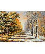 Startonight Canvas Wall Art Autumn and Winter, Landscape USA Design for Home ... - $149.00