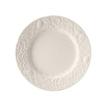 "Mikasa ""English Country Side"" Salad Plates Set Of 8 White Floral Stoneware New - $149.50"