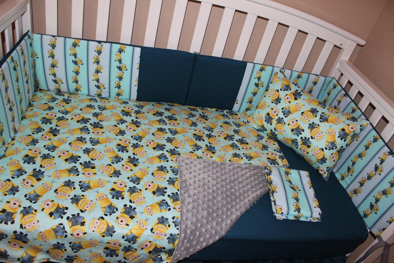crib bedding set minions 5 piece nursery bedding sets