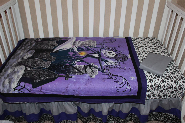 crib bedding set jack skellington nightmare before christmas 5 piece