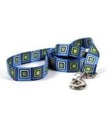 Blue Blocks Standard Designer Dog Leash (XSmall... - $14.84