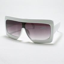 ROBOT Sunglasses 80's Retro Shades Black Lenses WHITE - $9.26