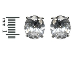 Oval Cut Clear Cubic Zirconia Center Martini Post Stud Earrings 12MM OF BLING- - $19.79