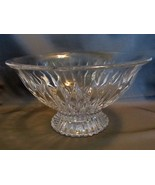 "Mikasa Meridian 10"" Lead Crystal Footed Bowl - $30.00"