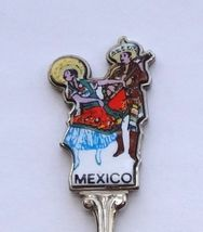 Collector Souvenir Spoon Mexico Jarabe Mexican Folk Dance Porcelain Emblem - $9.99