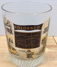 Colorado State Map Rocks Glass Tumbler Barware Vintage Landmarks Attract... - $13.09