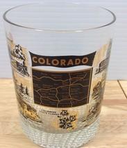 Colorado State Map Rocks Glass Tumbler Barware Vintage Landmarks Attract... - $13.09