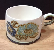 Wedgwood Iona Floral Cup England Blue Gray Purple Flowers Vintage No Saucer - $14.01