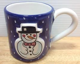 Starbucks Sberna Deruta Snowman Mug Embossed It... - $16.82