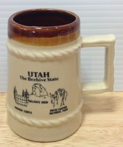Vintage Utah Small Mug Beer Stein Beehive State Mormon Temple Bryce Cany... - $13.09