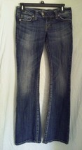 Womens SILVER Tuesday Distressed JEANS Size 27 ... - $13.49