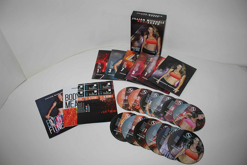Jillian Michaels BODY SHRED Fitness Workout Base Kit 12 DVDs Set Free Shipping