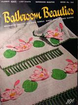 Vintage- Bathroom Beauties Crochet Booklet 1950 - $5.99