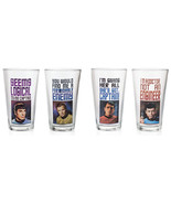 STAR TREK COMPLETE SET OF 4 KIRK MCCOY SPOCK SCOTTY 16 OZ PINT DRINKING ... - $66.49