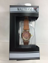 WTH45 Tan Leather Gold Face Waltham Women's Watch - $12.20
