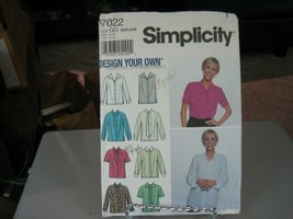 Simplicity 7022 Women's Design Your Own Blouse Pattern - Size 26W Bust 48 - $7.91