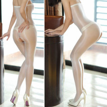 Strumpfhose Bodystockings offen Pantyhose Weiß White transparent unisex Glänzend - $6.99