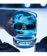 STAR TREK USS ENTERPRISE GLASSES OFFICIAL SET 4 ETCHED GLASSWARE DRINKIN... - $89.09