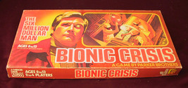 BIONIC CRISIS BOARD GAME 1975 PARKER BROTHER THE SIX MILLION DOLLAR MAN ... - $19.79