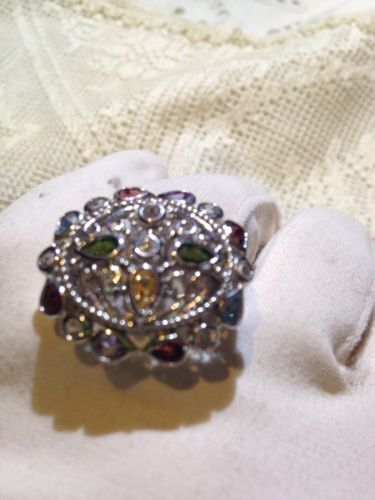 Primary image for Nemesis Vintage Handmade 925 Sterling Silver Genuine Tourmaline Ring