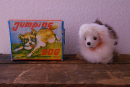 Vintage 1960s 60s Jumping Dog Wind Up Toy Made in Japan by OKA CIB - $29.99