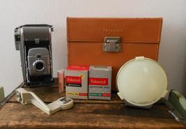 Vintage 1950s 50s Polaroid Land Camera Model 80 Highlander with Flash Br... - $79.99