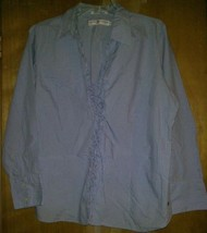 Tommy Hilfiger Blue & White Checked Blouse size 18 100% cotton Long sleeved - $8.15