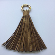 Suede tassel , long and bulky soft real suede l... - $14.95