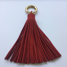 Suede tassel , long and bulky soft suede real l... - $14.95
