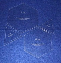 """Hexagons 6"""" & 7"""" & Equilateral Triangles to match, 4 pc set- 1/8"""" Thick - $28.99"""