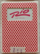The RIO Las Vegas Playing Cards, Pink Letters on white, Used, Sealed - $5.95