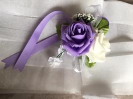 Double open Rose wrist corsage (your choice color) - $5.50