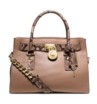 NWT Michael Kors Handbag Hamilton Leather Satchel, Shoulder Bag, Tote Pu... - $299.99