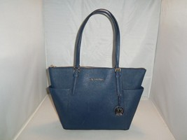 Michael Kors Handbag Jet Set Item E / W Top Zip Saffiano Leather Tote Ba... - $129.99