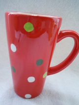 Red Polka Dot Latte Mug New - $2.99