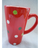 Red Polka Dot Latte Mug New - £2.20 GBP