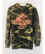 Vintage 90s JURASSIC PARK Universal Studios Camo Sweatshirt Size Small Rare - $85.50