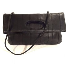 New FRANCHI COLLECTION Fold Over CLUTCH BLACK L... - $73.73