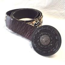 CHICO'S Belt SZ Large Wide Leather BOHEMIAN Bea... - $27.59