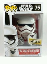 First Order Stormtrooper Star Wars Exclusive Funko Pop Bobblehead #75 NEW - $17.74