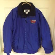L A L Nylon FLEECE LINED Jacket SZ XL BLUE & Na... - $35.96
