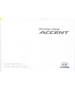 2016 Hyundai ACCENT owner's manual book 16 owners user's guide - $9.00