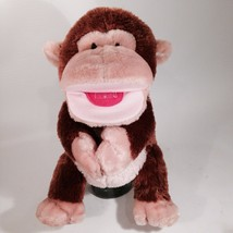 "AURORA 12"" BROWN Monkey HAND PUPPET VELCRO - $13.96"