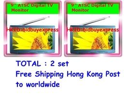 "2 x Mini 9"" Portable TFT LCD ATSC Digital TV Monitor for US - $349.00"