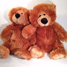 PAIR 2 MATCHING PLUSH Bears by Anhui Arts & Crafts - $20.39