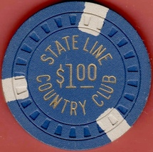 $1 Casino Chip, Stateline Country Club, Lake Tahoe, NV. 1953. K94. - $22.50